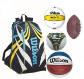 Wilson Sports Pack 4 balls and backpack